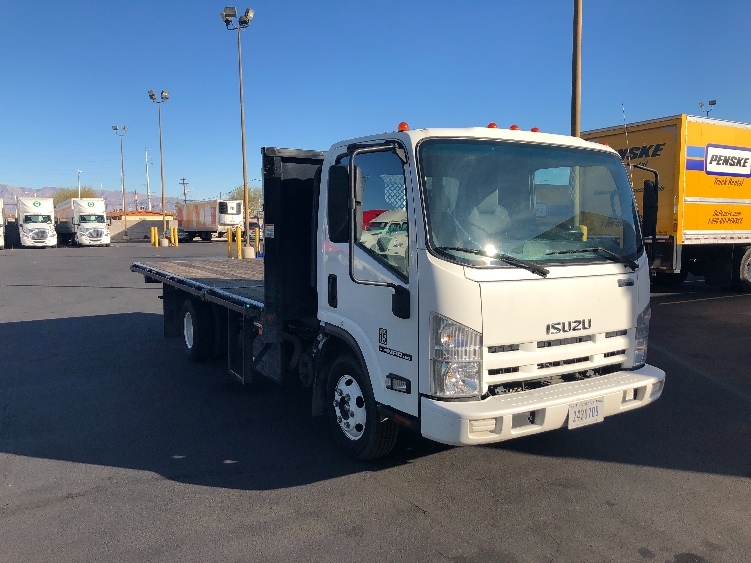 Flatbed Truck-Light and Medium Duty Trucks-Isuzu-2015-NPR-LAS VEGAS-NV-87,149 miles-$40,250
