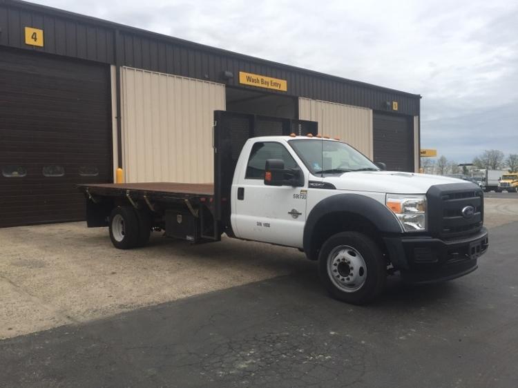 Flatbed Truck-Light and Medium Duty Trucks-Ford-2012-F550-PENNSAUKEN-NJ-123,208 miles-$37,500