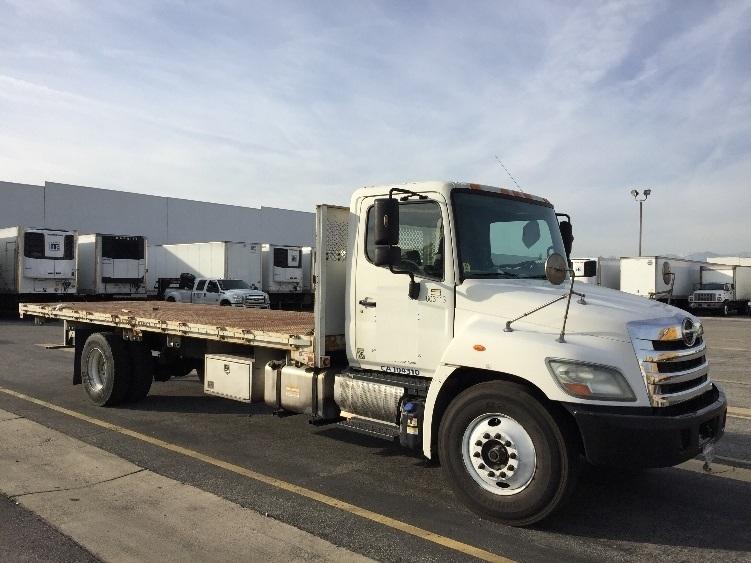 FLATBED-TRUCK-Hino-2011-268-TORRANCE-CA-266,469 miles-$30,500