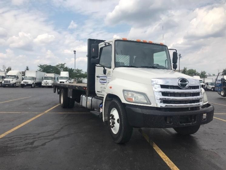 Flatbed Truck-Light and Medium Duty Trucks-Hino-2012-268-ELK GROVE VILLAGE-IL-149,981 miles-$42,750