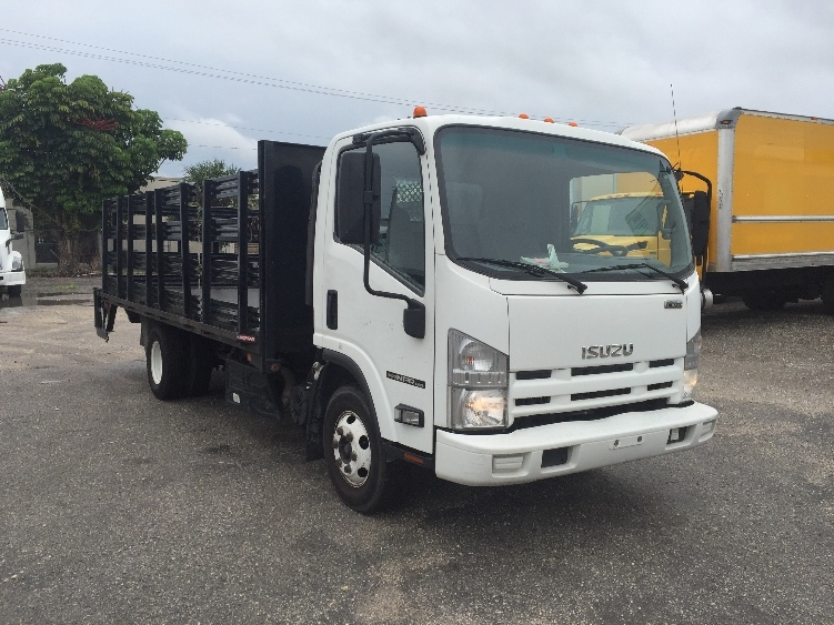 Flatbed Truck-Light and Medium Duty Trucks-Isuzu-2012-NPR-MIAMI-FL-186,055 miles-$19,250
