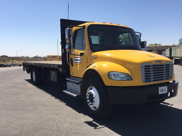 FLATBED-TRUCK-Freightliner-2013-M2-LOS ANGELES-CA-117,282 miles-$50,250