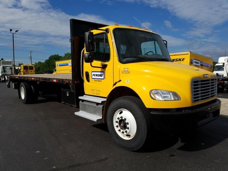 Flatbed Truck-Light and Medium Duty Trucks-Freightliner-2014-M2-ELKHART-IN-153,753 miles-$44,750