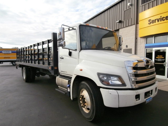 Flatbed Truck-Light and Medium Duty Trucks-Hino-2015-268-WEST HAVEN-CT-142,121 miles-$41,250